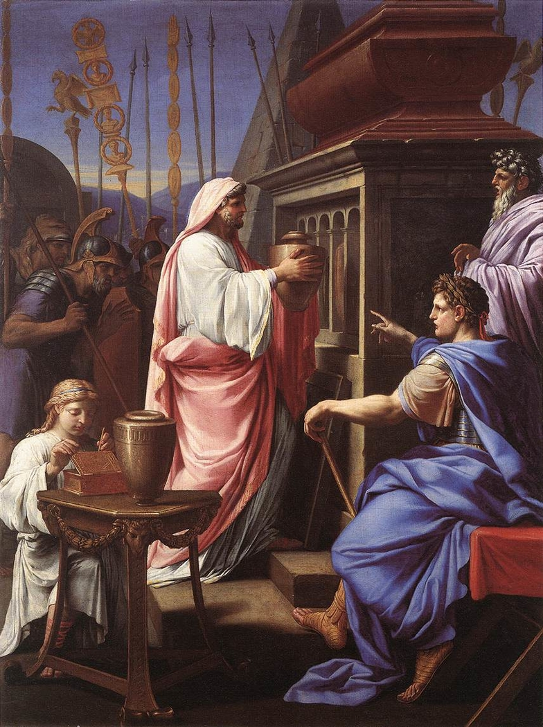 Caligula depositing the Ashes of his Mother and Brother in the Tomb of his Ancestors