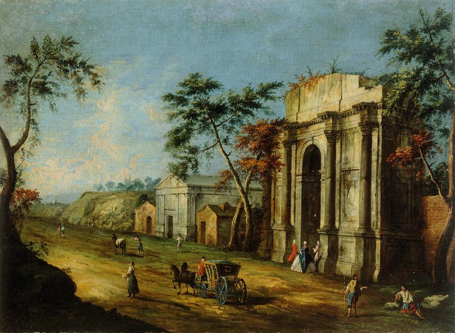 Capriccio with a Classical Triumphal Arch
