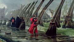 Cardinal Richelieu at the Siege of La Rochelle