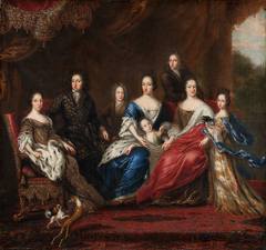 Charles XI's family with relatives from the duchy Holstein-Gottorp