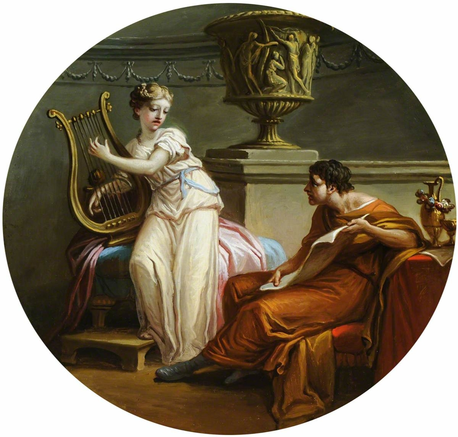 Chloe playing the Lyre to Daphnis