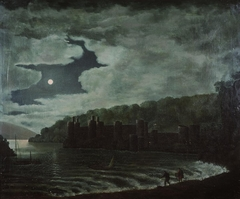 Conway Castle by moonlight