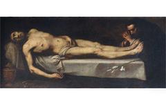 Cristo morto adorato da san  Domenico di Guzman