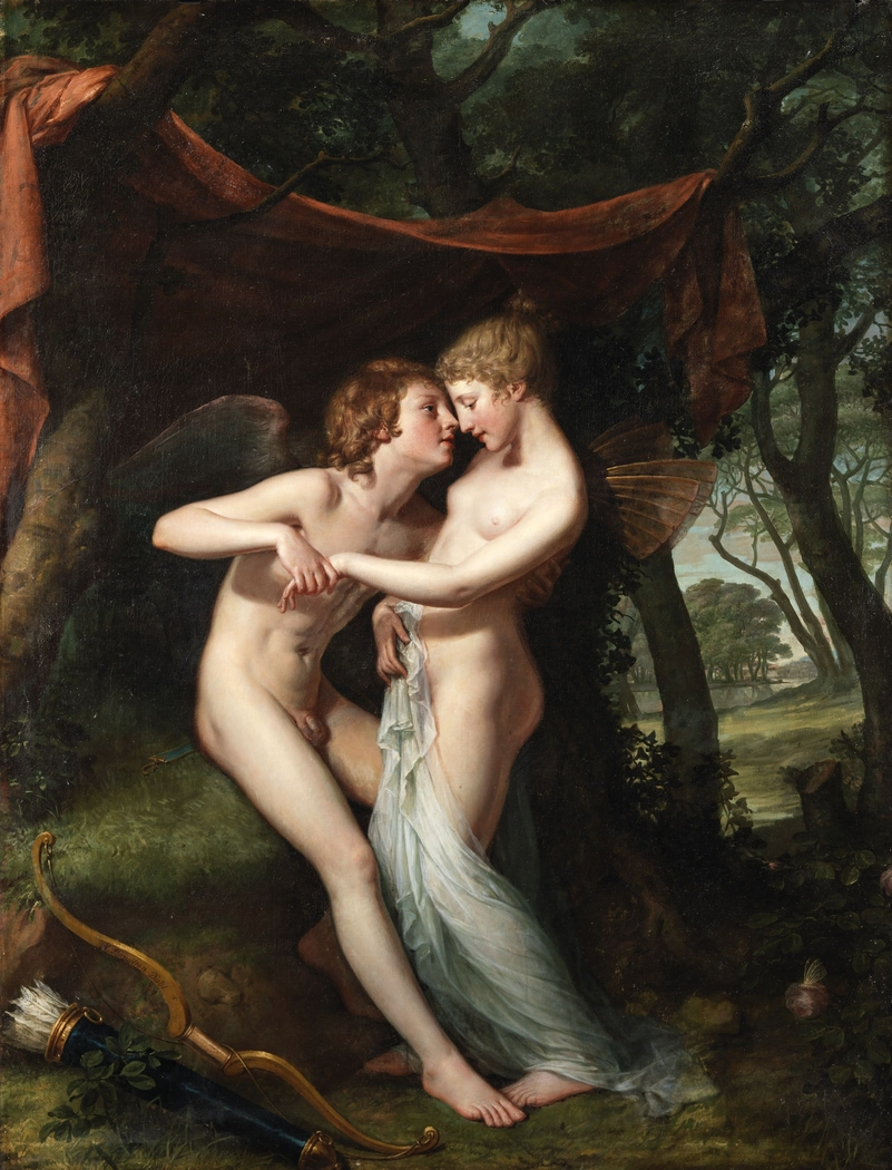 Cupid and Psyche in the Nuptial Bower