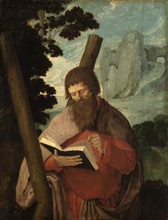 Der Heilige Andreas in Halbfigur