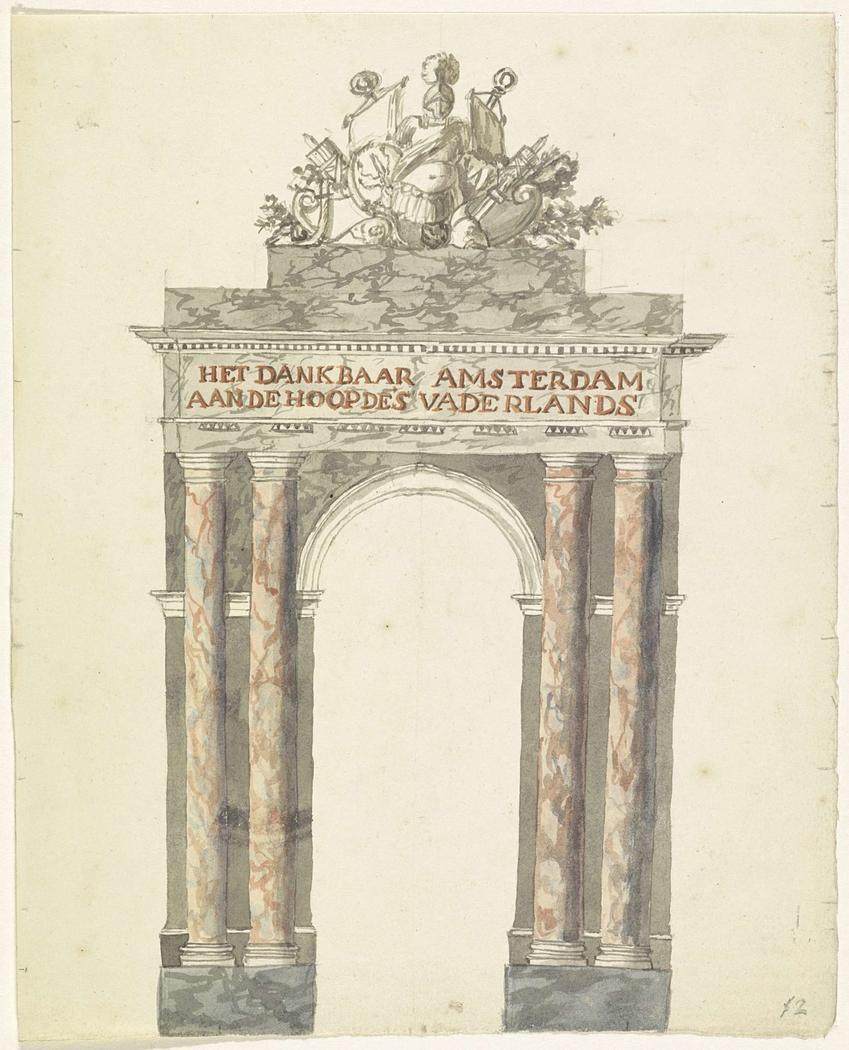 Ereboog op de Dam, 1816