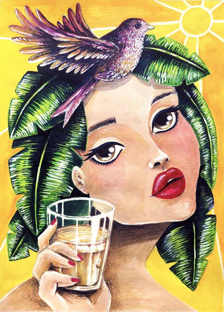 'Espresso Girl' - Coffee Serie
