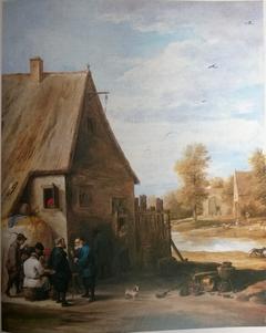 Farmers before an inn