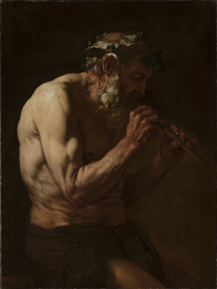 Faun playing the flute.