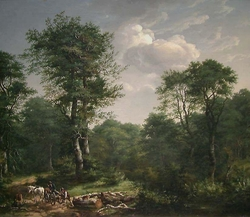 Forest Scene near Engelholm