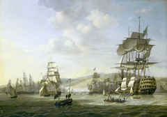 Four moments by the English-Dutch Fleet in the Bay of Algiers, 26-27 August 1816