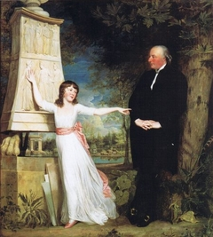 Frederick Hervey, Bishop of Derry and 4th Earl of Bristol (1730-1803), with his Granddaughter Lady Caroline Crichton (1779-1856), in the Gardens of the Villa Borghese, Rome