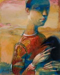 Giovane con il corvo / Young man with raven