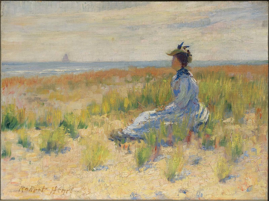 Girl Seated by the Sea