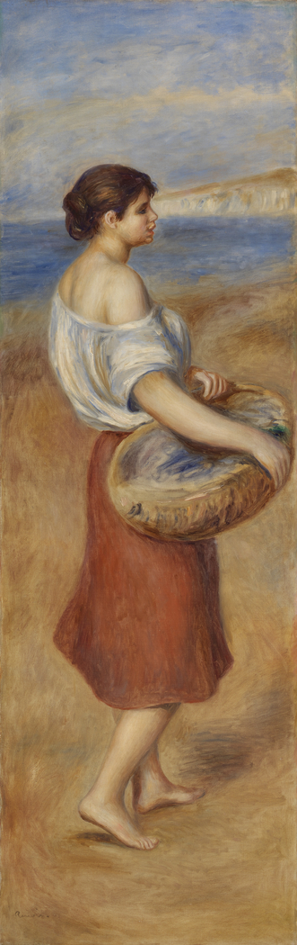 Girl with Basket of Fish (Pêcheuse de poissons)