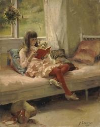 Good Friends (Portrait of the Artist's Sister Bertha Edelfelt)