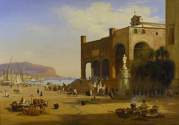 Harbour scene, Palermo