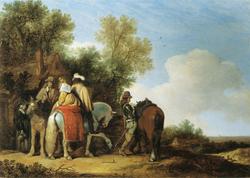 Horseman in front of an Inn