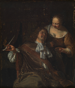 Interior with Man and Woman