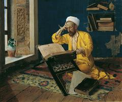 Islamischer Theologe mit Koran