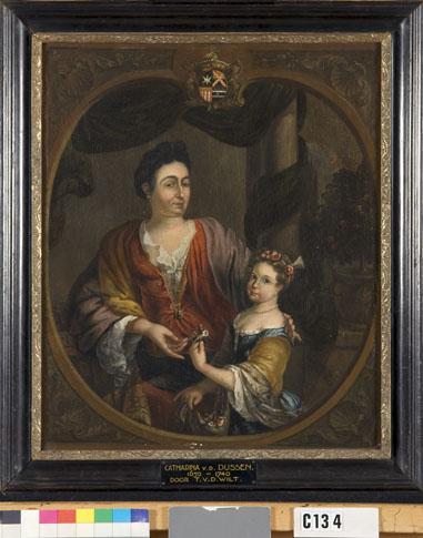 Johanna Magdalena Ingelby (1676-1759), echtgenote van François Jacob van Overschie en haar dochter Anna Maria (1711-1756)