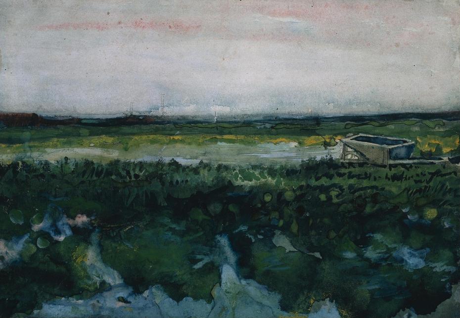 Landscape with Wheelbarrow