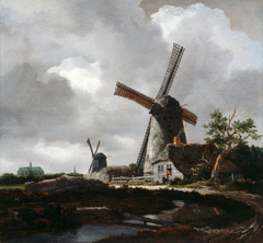 Landscape with Windmills near Haarlem