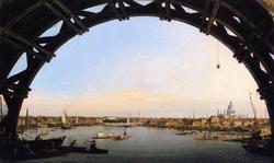London: Seen Through an Arch of Westminster Bridge
