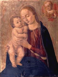 Madonna and Child with Cherub