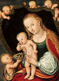 Madonna and Child with the Infant John the Baptist and Angels