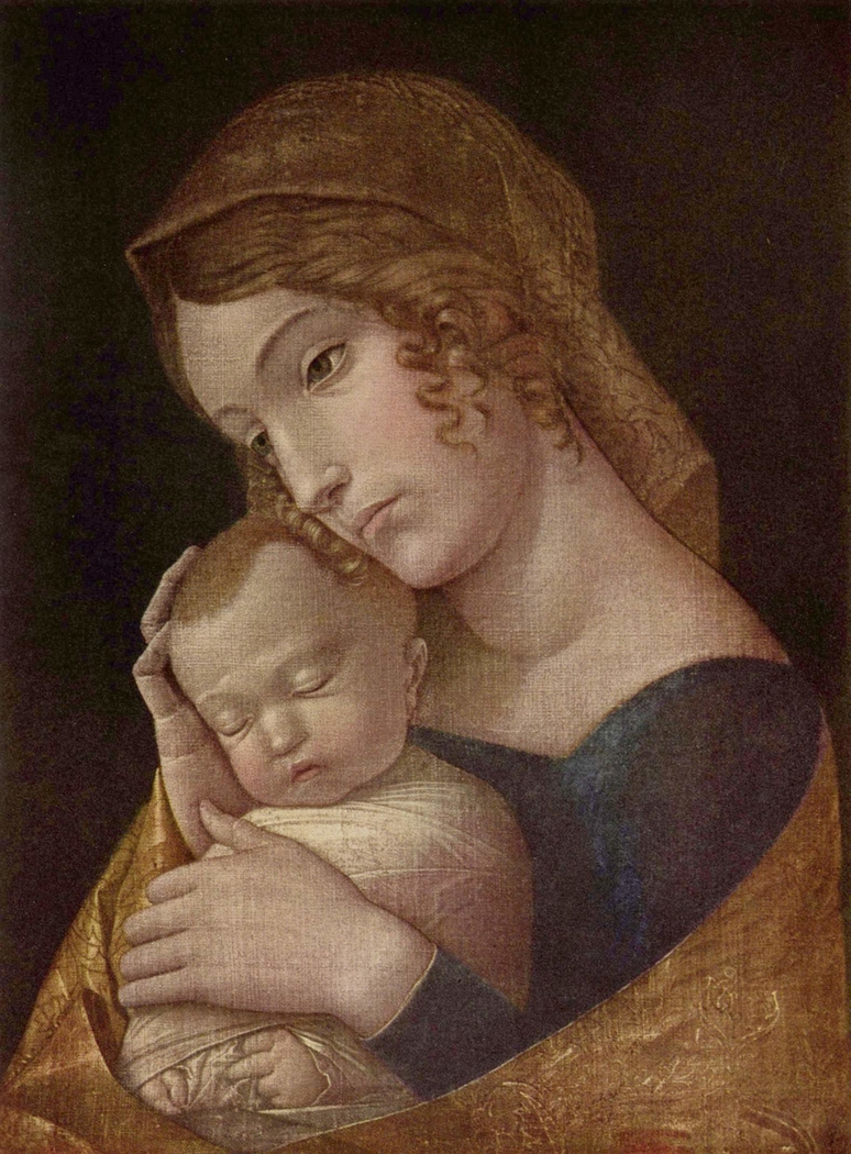 Madonna and sleeping child