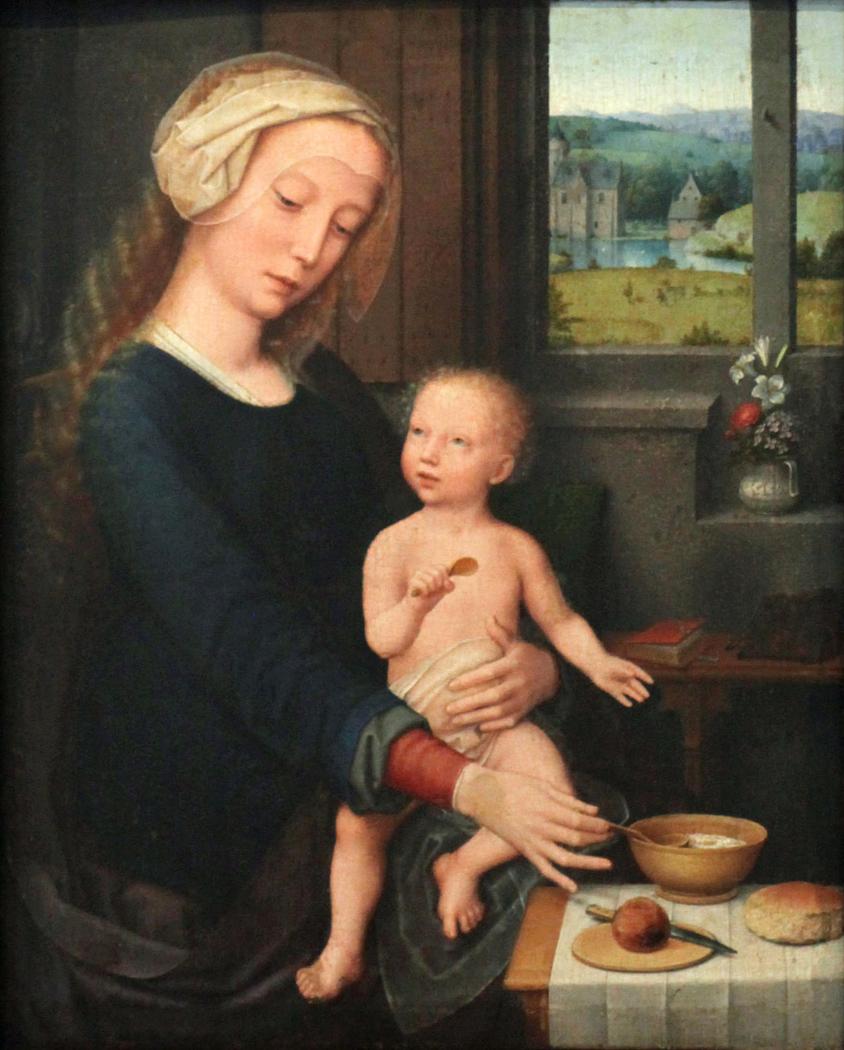 Madonna feeding the Child