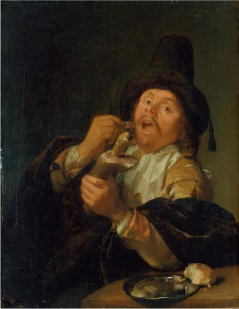 Man eating Ham