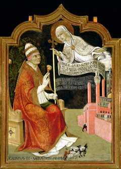Maria verschijnt aan paus Calixtus III