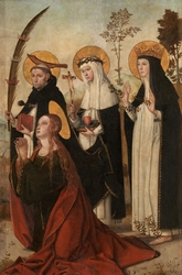 Mary Magdalene Saint Peter of Verona Saint Catharine of Sienna and Blessed Margaret of Hungary