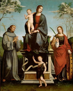 Mary with Child, St. Francis, St. Catherine and young St. John the Baptist