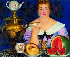 Merchant's Wife drinking tea
