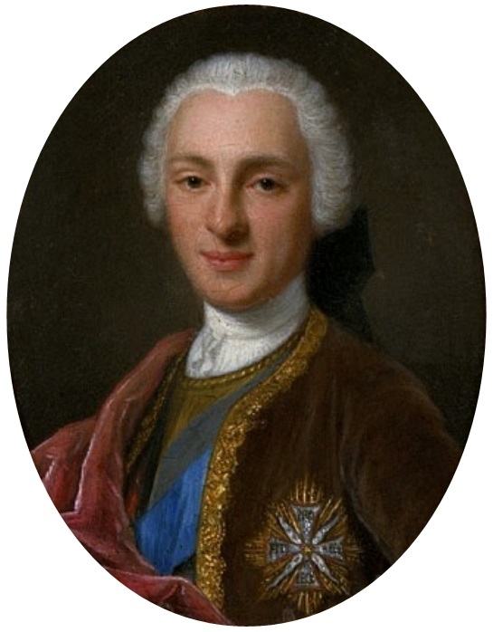 Miniature of a young man with the Order of the White Eagle.