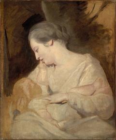 Mrs. Richard Hoare Holding her Child