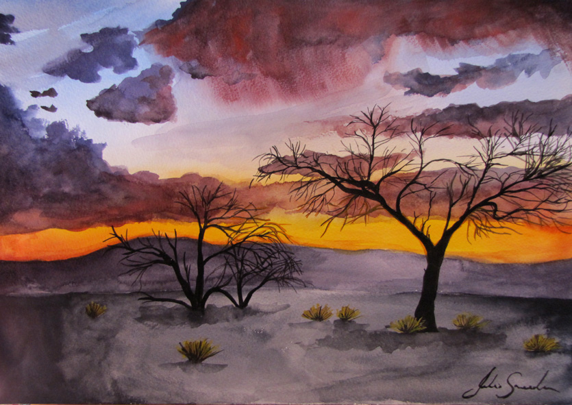 Namibia Sunset Trees