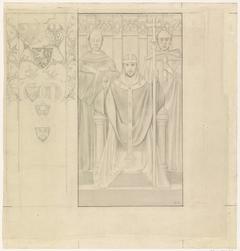 Ontwerp voor de Eerste Bossche Wand: De Paus