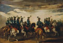 Österreichische blaue Husaren