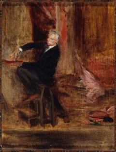 Portrait du peintre Jules Chéret (1836-1933), dans son atelier