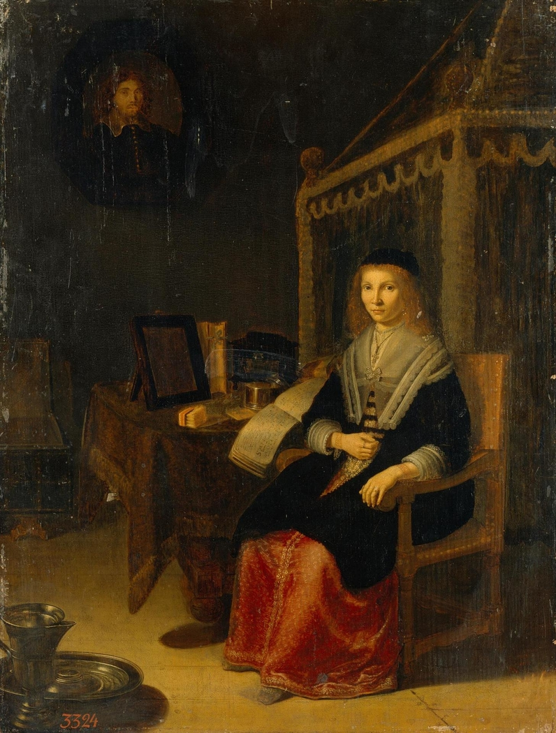 Portrait of a Lady at the Table with Music