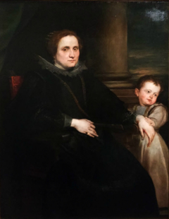 Portrait of a woman from Genoa with a child