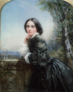 Portrait of lady in dark dress