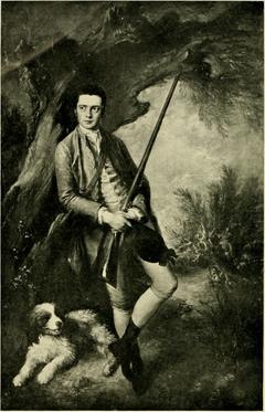 Portrait of William Poyntz of Midgham and his Dog Amber