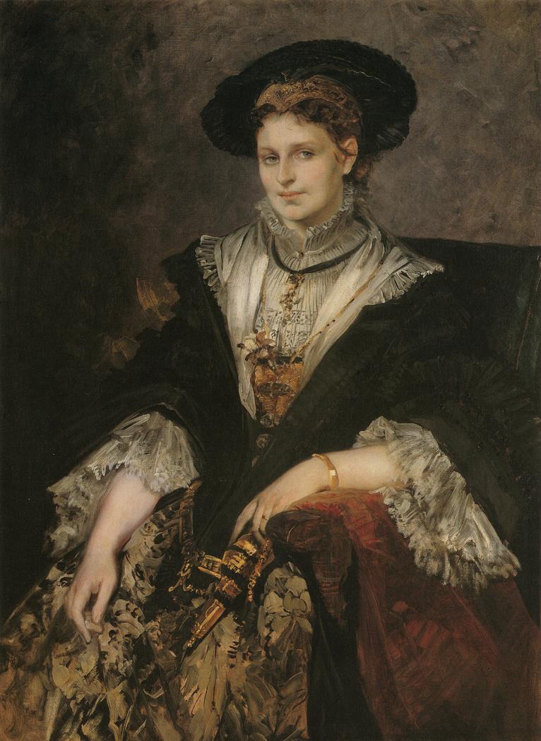 Porträt Bertha von Piloty