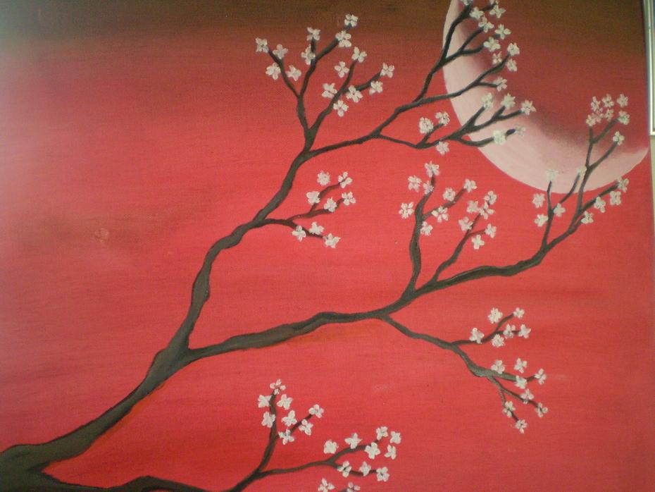 red spring night
