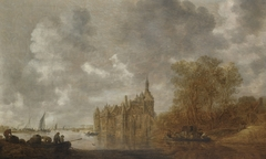 River Landscape with Castle and Ferry Boats